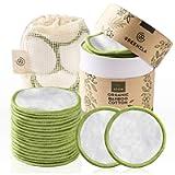 Greenzla Dischetti Struccanti Lavabili (20 Pack) con sacchetto di lavanderia lavabile e scatola rotonda per lo…
