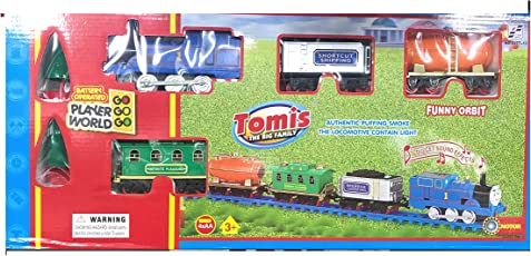 Thomis Train Track Toy Set with Sound Intelligent, Beautiful Light
