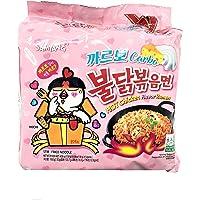 Samyang Carbo Buldak Bokkum Ramen Pack of 5 Hot Spicy Chicken Flavor Ramen with Carbo flavor