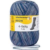 REGIA 4-fädig Color 9801269 Handstrickgarn, Sockengarn, 100g Knäuel