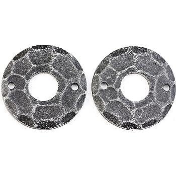 UHRIG 1 Paar 2 St/ück Dr/ückerrosette Oval f/ür Dr/ücker Rosette geschmiedet aus Stahl #918