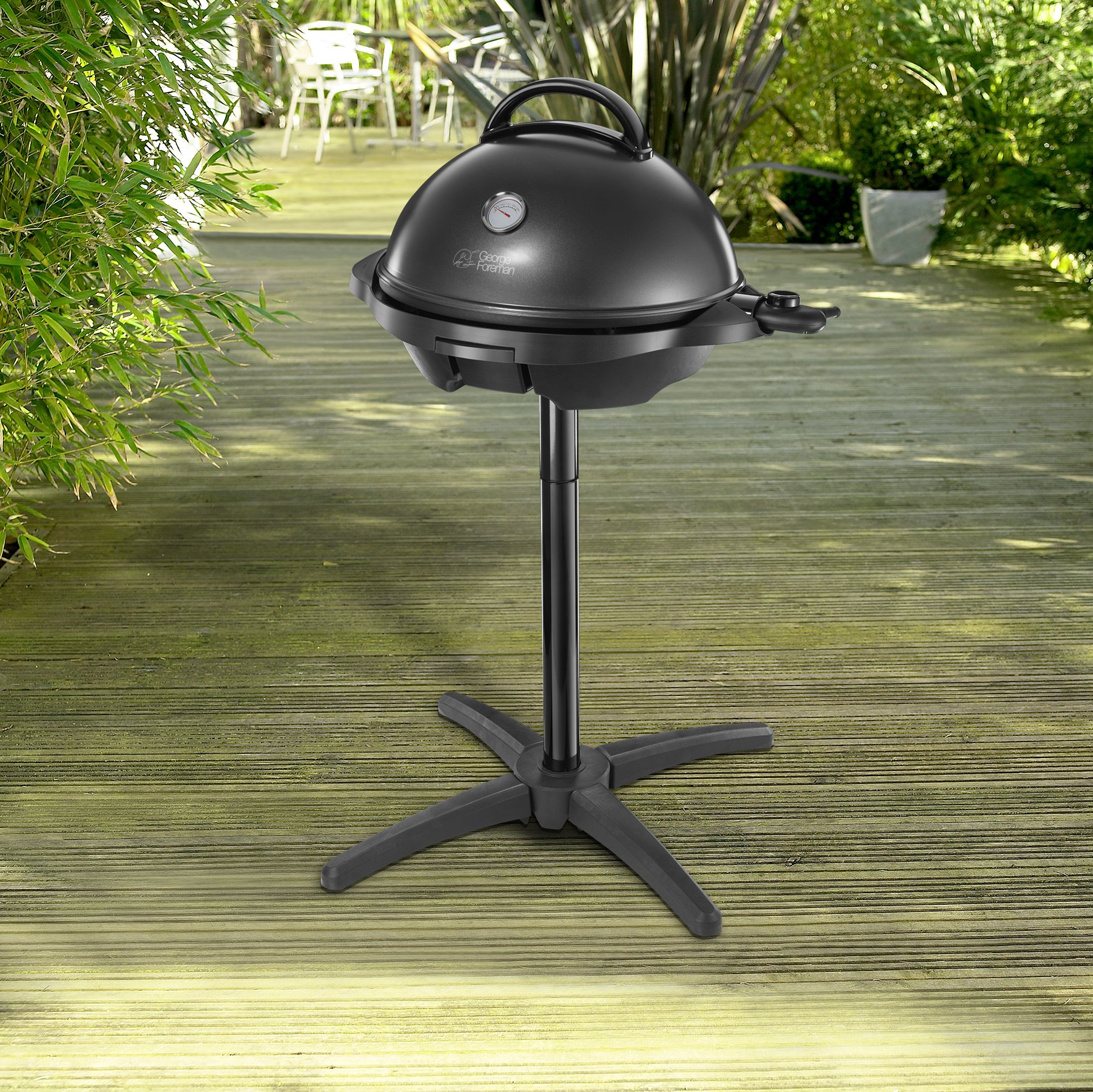 George Foreman Indoor Outdoor BBQ Grill 22460 - Rattan ...