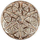 styleBREAKER Colgante de Adorno magnético Redondo con estrás y Ornamento de Nudo Celta para chales, pañuelos o Ponchos, Broch