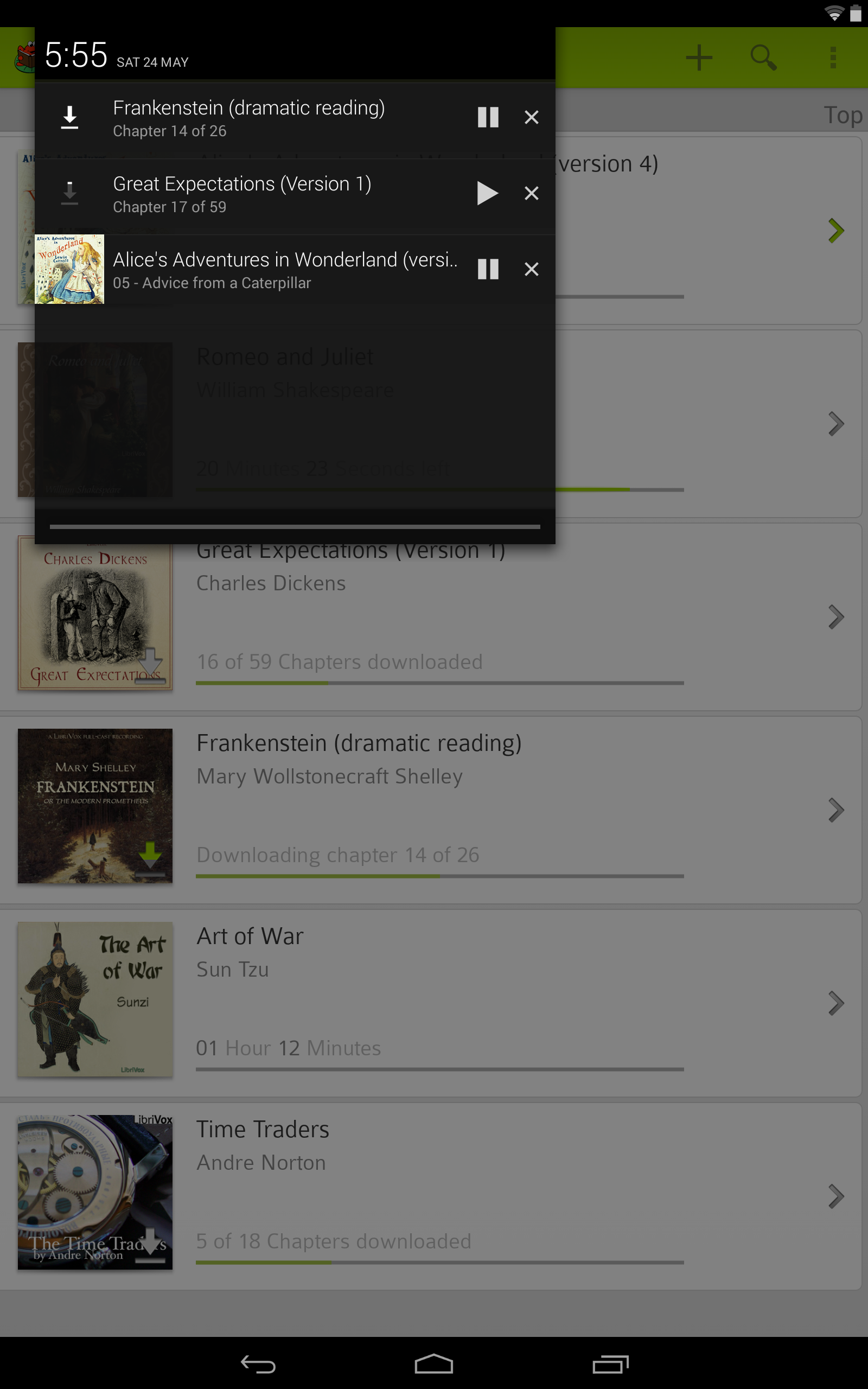 how to download audiobooks to android tablet