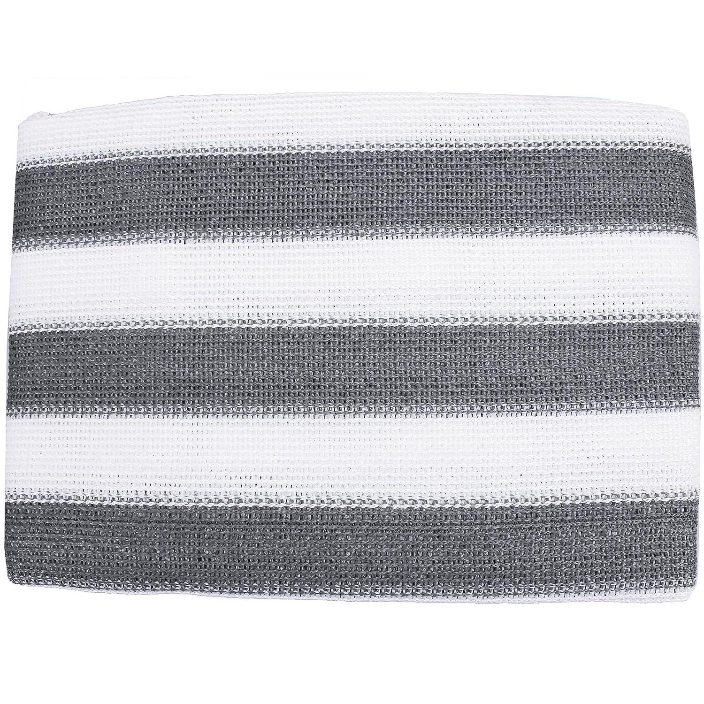 Amazon Balkon Sichtschutz grau weiß gestreift 600x75