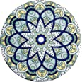 لوحة ماوس بتصميم كلاسيكي دائري من مارجون، لوحة ماوس مطاطية دائرية غير قابلة للانزلاق مع تحكم سريع ودقيق وقاعدة مطاطية غير قاب