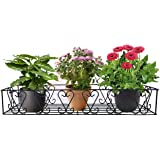 D&V ENGINEERING - Creative in innovation Metal Railings Pot Stand/Flower Plant Display Stand for Multiple Plants Garden Balco