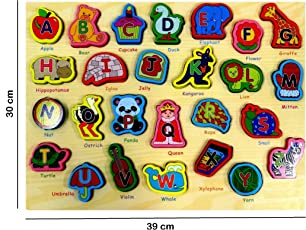 ABC Puzzle English Alphabets Color Picture Learning Board for Kids Children – Early Education Toys for Kids
