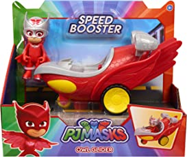 PJ MASKS Just Play Speed Boosters Vehicles Owlette Car Seat Toys, Red
