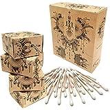 Nature Nerds - Wattestäbchen (800 Stück) aus Bambus und Bio-Baumwolle, plastikfrei & nachhaltig, Ohrenreiniger, Q-Tips