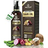 EARTHIYA Onion Oil with Ginger- Helps in Hair fall Control, Hair growth, Anti dandruff with 14 Essential Oils 18 Natural Extr