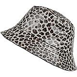TOUTACOO, Chapeau de Pluie, Femme, imperméable. Imprimé Léopard ou Couleur Unie