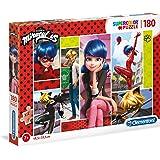 Clementoni - Supercolor Puzzle -Miraculous-180 Piezas, Multicolor, 29758