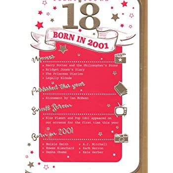 18th Birthday Card Female