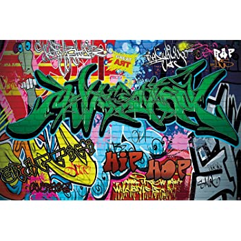 Wall Mural Street Style Decoration Graffiti Art Writing Pop Letterings Painting Urban Abstract Comic