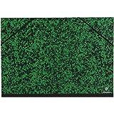 Clairefontaine 93242C - Un carton à dessin Annonay fermeture élastiques 32x45 cm, Vert
