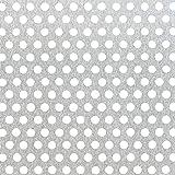 GAH-Alberts 464240 geperforeerde plaat   ronde perforatie   aluminium, naturel   250 x 500 x 0,8 mm