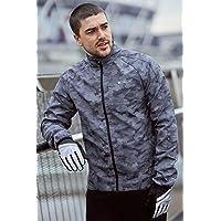 Mountain Warehouse 360 Reflective Mens Jacket - Water Resistant Unisex Rain Jacket, Breathable, Front Pockets, Full Zip…