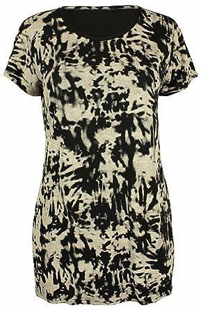 Damen NEU Leopard Batik Schädel Buchstaben bedruckt Muster Damen ...