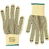 Amazon Basics Gants de travail résistants aux coupures (niveau A2) Paume avec points en plastique Taille 8 M 6 paires