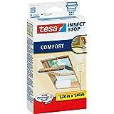 tesa Insect Stop Comfort Vliegenhor voor Dakramen - Insectenhor, raamhor - Met klittenband - Voor schuine ramen - Snij op maa
