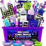 Original Stationery Galaxy Slime para Niñas, Niños - Kit Galaxy Slime Estrellas Que Brillan en la Oscuridad y Polvo de Slime