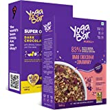 Yogabar Breakfast Oats and Muesli | Dark Chocolate Muesli | Dark Chocolate Oats Combo Pack | 400gm Each