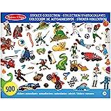 Melissa & Doug Kolekcja naklejek - dinozaury, pojazdy, kosmos i więcej aktywności podkładka naklejka podkładka 3+ prezent dla
