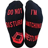 'Do Not Disturb, I'm Watching Wrestling' Funny Ankle Socks - Great Gift For Wrestling Fans