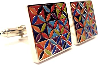 Peluche Multicolour Brass Cufflinks for Men