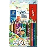 STAEDTLER 187 C12P1 Noris Colour Buntstift (erhöhte Bruchfestigkeit, Dreikantform, attraktives Design, ergonomische Soft-Ober