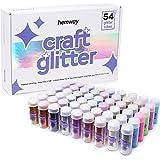 Hemway Lot de 54 tubes de paillettes (9,6 g) - Multi-usages - Paillettes ultrafines pour loisirs créatifs, scrapbooking, slim
