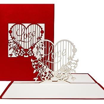 pop up karte love heart 3d klappkarten als hochzeitseinladungen hochzeitskarten. Black Bedroom Furniture Sets. Home Design Ideas