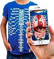 Curiscope - Virtuali-Tee | Maglietta Didattica in Realtà Aumentata | Uomo: M, Azzurro