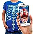 Curiscope Virtuali-Tee T-Shirt mit Augmented Reality-Motiv, Kinder: L, Blau