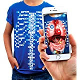 Curiscope Virtuali-Tee | Educational Augmented Reality T-Shirt | STEM Toy Ages 3 and Up (Enfants L (9-11 Ans))