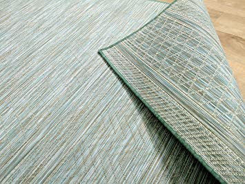 Teppich mintgrün  In & Outdoor Teppich Beidseitig Flachgewebe Hampton Mintgrün ...