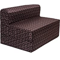 uberlyfe 1 Seater Poly Cotton Fabric Washable Cover Sofa Cum Bed Perfect for Guests (Dark Brown; 3 X 6 ft)