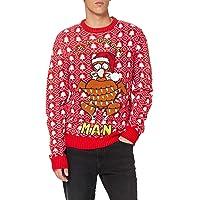 Brave Soul Men's 230TURKEY Pullover Sweater, Red, M