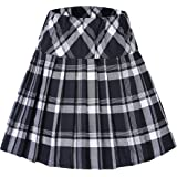 Urban GoCo Mujeres Falda Escocesa Plisada con Cintura Elástica Escuela Uniforme Falda Cuadros