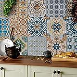 24 pezzi, vari adesivi per piastrelle a mosaico, 15x15 cm facili da staccare e applicare per la tua cucina, adesivi quadrati