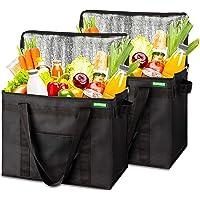 COTTARA Neu Premium Kühltasche faltbar 2er Pack – Einkaufstasche groß mit verstärktem faltbarem Boden – Ideal als…
