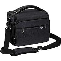 PEDEA DSLR-Kameratasche Noble Fototasche für Spiegelreflexkameras mit wasserdichtem Regenschutz, Tragegurt und…