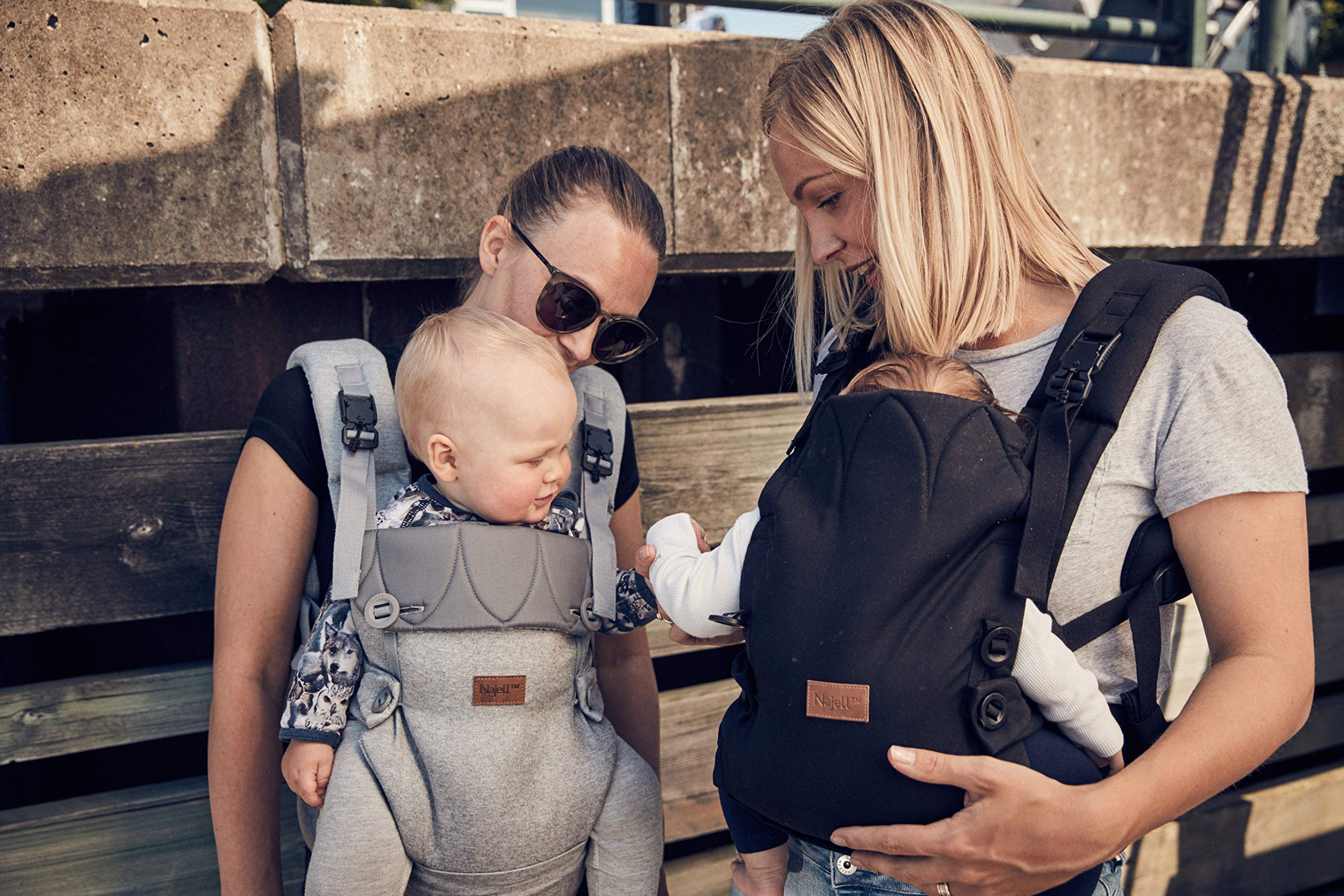 Najell Omni Active Mesh Baby Carrier with Hip Seat, Brilliant Black Béaba New-born ergonomic position and hips seat from 6 months. Market leading weight distribution with hip seat, recommended by the international hip dysplasia institute as a hip-healthy baby carrier Weight: 3, 5 to 15 kg and age: new-born to 3 years. 13