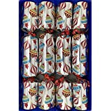 Crackers Ltd Juego de 8 Galletas de Navidad con garabatos Plateados