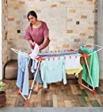Bathla Mobidry Axis - Large Foldable Cloth Drying Stand with Weather Resistant Frame