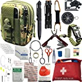 Emergency Survival Kit / Gears + First Aid kit Gifts for Men Son Boyfriend Dad Husband Father's Day 30+ Items in 1; Include E