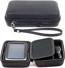 Schwarzes Hartschalentasche für TomTom Start 62 60 Via 62 6'' 6 Zoll GPS Navigationsgerät Navigationssystem Sat Nav mit Tragegurt und Zubehörfach