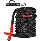 CCLIFE Battle Ropes Schlachtseil 9m 12m 15m Ø38mm Trainingsseil Fitnessseil Sportseil Battle Rope für Fitnessstudio…