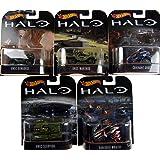 SET de 5 modèles de HALO Scale 1/64 Hot Wheels Diecast